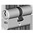 Icon-Mechanische Schließzylinder