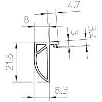 SIMONSWERK Türdichtung VARIANT® DS 7411, Gummi
