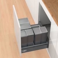 HETTICH Abfallsystem Bin.it Smart 600, Kunststoff - grau anthrazit matt - Nennlänge: 500, 550, 470, 520 mm