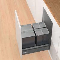HETTICH Abfallsystem Bin.it Smart 450/500, Kunststoff - grau anthrazit matt - Nennlänge: 500, 550, 470, 520 mm