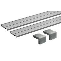 HETTICH Laufprofil-Set SlideLine M, 2-bahnig, Aluminium