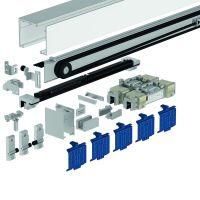 DORMA Schiebetürbeschlag MUTO Premium SC-120, Wandmontage, Aluminium