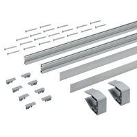 HETTICH Laufprofil-Set SlideLine M, Aluminium