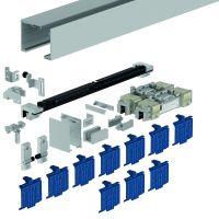 DORMA Schiebetürbeschlag MUTO Premium XL 80, Wandmontage, Aluminium