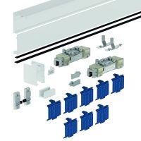 DORMA Schiebetürbeschlag MUTO Comfort L 80, Deckenmontage, Aluminium