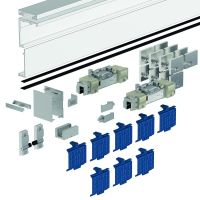 DORMA Schiebetürbeschlag MUTO Comfort L 80, Glasmontage, Aluminium