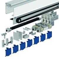 DORMA Schiebetürbeschlag MUTO Premium SC-120, Glasmontage, Aluminium