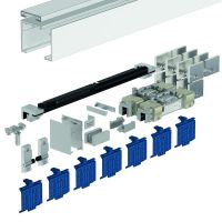 DORMA Schiebetürbeschlag MUTO Premium XL 80, Glasmontage, Aluminium