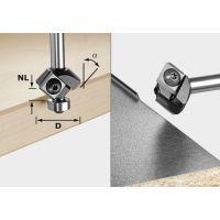 FESTOOL Fasefräser-Wendeplatten S8 HW 45° D27 12x12 KL 499807