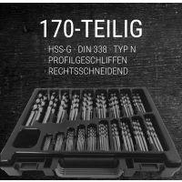 HDM Spiralbohrer-Satz 170-tlg. HSS-G DIN 338