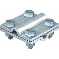 Schuller Kreuzverbinder nach DIN EN 62561-1 rund / rund 8 - 10 mm feuerverzinkt Stahl