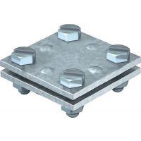 Schuller Kreuzverbinder nach DIN EN 62561-1 flach / flach 30 mm feuerverzinkt Stahl