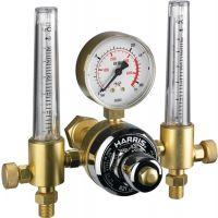 Harris Calorific Flaschendruckminderer 801-821Z013 Argon-Mix 200bar 2x30 l/minW 21,8x1/14 Zoll LH