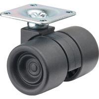 BS Rollen Kunststoff-Doppelrolle 38mm 60 kg o.Feststeller Ku.schwarz 47x47mm