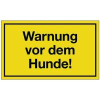 PROMAT Hinweiszeichen Warnung vor dem Hunde L250xB150mm gelb schwarz Ku.