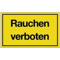 PROMAT Hinweiszeichen Rauchen verboten L250xB150mm gelb schwarz Ku.