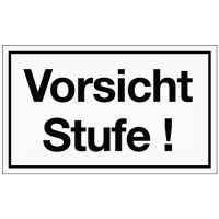 PROMAT Hinweiszeichen Vorsicht Stufe Kunststoffschild L250xB150mm weiß schwarz Ku.
