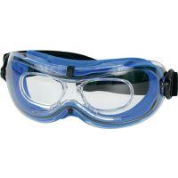 PROMAT Vollsichtschutzbrille Daytona EN 166-BT Rahmen blau,Scheibe klar PC
