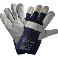PROMAT Handschuhe Weser Gr.10 blau Rindspaltleder EN 388 Kat.II PROMAT