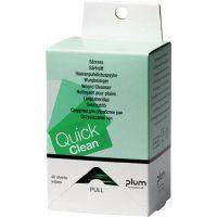 PLUM Wundreinigungstuch QuickClean Nachfüllbox f.Erste-Hilfe-Station 40 St./Packung