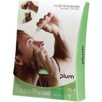 PLUM Augenspülampulle QuickRinse Mini 4x20ml 3Jahre(ungeöffnete Flasche)4 St./VE Plum