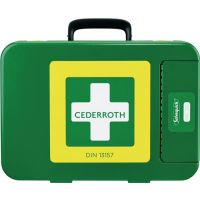 CEDERROTH Erste Hilfe Koffer First-Aid-Kits B300xH420xT118ca.mm grün