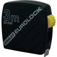 STANLEY Taschenrollbandmaß Eurolock L.3m Band-B.12,7mm mm/cm EG II Ku.STANLEY