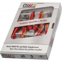 NWS Zangensatz Inhalt 5 teilig VDE für SoftGripp und System Clip-Set