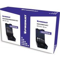 PROMAT Metallbearbeitungsset 13-teilig 2 in 1 Duobox PROMAT