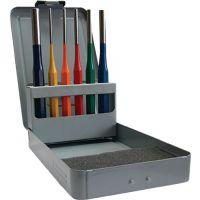 PROMAT Splintentreibersatz 6tlg.3-4-5-6-8-10 mm mehrfarbig Metallkassette PROMAT