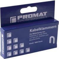 PROMAT Kabelklammer Klammer-B.0,7cm Schenkel-L.0,85cm Klammerhöhe 1,2cm PROMAT