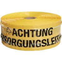 MULTICOLL Trassenwarnband Aufdruck Achtung Versorgungsleitung B.150mm L.250m gelb