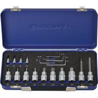PROMAT Steckschlüsselsatz 19-tlg.1/4+1/2 Zoll 1,25-17mm f.i6-KT.-Schr.PROMAT