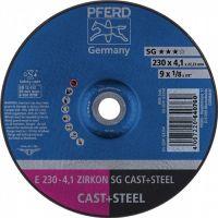 PFERD Schruppscheibe SG CAST+STEEL D230xS4,1mm gekr.STA/INOX Bohr.22,23mm PFERD