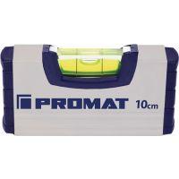 PROMAT Wasserwaage 10cm Alu.silber ± 0,5mm/m PROMAT