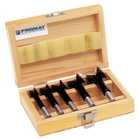 PROMAT Kunstbohrersatz 5-tlg.hartmetallbestückt D.15,20,25,30,35mm Holzkasette PROMAT