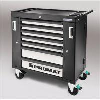 PROMAT Wkz.wagen PROFI B990xT480xH990mm 650 kg 7 Schubl.Stahlbl.PROMAT