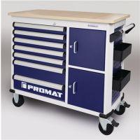 PROMAT Rollwerkbank PLUS Außen-B1150xT500xH1015mm Schubl.7 30 kg 500 kg PROMAT