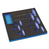 PROMAT Werkzeugmodul 8-tlg.2/3-Modul Schlüsswelweiten 2-10mm PROMAT