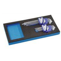 PROMAT Werkzeugmodul 18-tlg.1/3-Modul SW 1,5-10mm,T9-T45 PROMAT