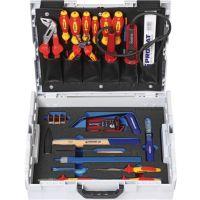 PROMAT Werkzeugsortiment Elektriker 26-tlg.L-Boxx PROMAT