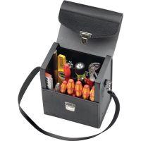 PROMAT Werkzeugtasche B.235xT.160xH.278mm Industrieleder abnehmbarer Trageriemen PROMAT