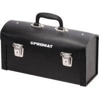 PROMAT Werkzeugtasche B.360xT.110xH.170mm Rindleder Seitenteile ABS schwarz PROMAT