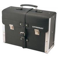PROMAT WerkzeugtascheB.420xT.160xH.300mmaus Rindleder schwarzm.Mittelw. Alu-verstärkt