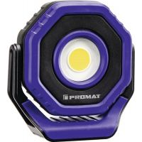 PROMAT LED-Akkuhandleuchte 3,7 V 2600 mAh Li-Ion 7 W 100-700 lm Ladezeit 4 h PROMAT
