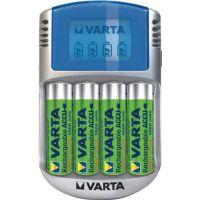 VARTA Akkuladegerät LCD Charger f.4 Akkus 4xAA 2600 mAh,12V Adapter,USB Kab.VARTA