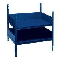 LOGS Regalelement LOGS 40 H520xB540xT390mm blau RAL 5022 m.Doppelfachboden LOGS