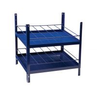 LOGS Regalelement LOGS 180 H520xB540xT390mm blau RAL 5022 2x6-reihig