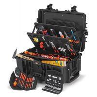 KNIPEX Werkzeugkoffer Robust45 Elektro 63-tlg.Koffer a.schlagfestem PP f.Elektriker