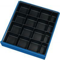 PROMAT Schubladenunterteilungsmaterial Front-H.60-90mm Kleinteileeinsatz 16 Mulden